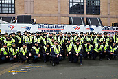 5th February 2019, Boston, Massachusetts, USA;  Boston Police officers pose during the New England Patriots Super Bowl Victory Parade on February 5th 2019, through the streets of Boston, Massachusetts.