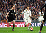 Real Madrid CF's Luka Modric and AFC Ajax's Frenkie de Jong during UEFA Champions League match, Round of 16, 2nd leg between Real Madrid and AFC Ajax at Santiago Bernabeu Stadium in Madrid, Spain. March 05, 2019.(ALTERPHOTOS/Manu R.B.)