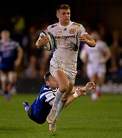 Exeter Chiefs' Henry Slade in action during todays match<br /> <br /> <br /> Photographer Bob Bradford/CameraSport<br /> <br /> Gallagher Premiership - Bath Rugby v Exeter Chiefs - Friday 5th October 2018 - The Recreation Ground - Bath<br /> <br /> World Copyright &copy; 2018 CameraSport. All rights reserved. 43 Linden Ave. Countesthorpe. Leicester. England. LE8 5PG - Tel: +44 (0) 116 277 4147 - admin@camerasport.com - www.camerasport.com