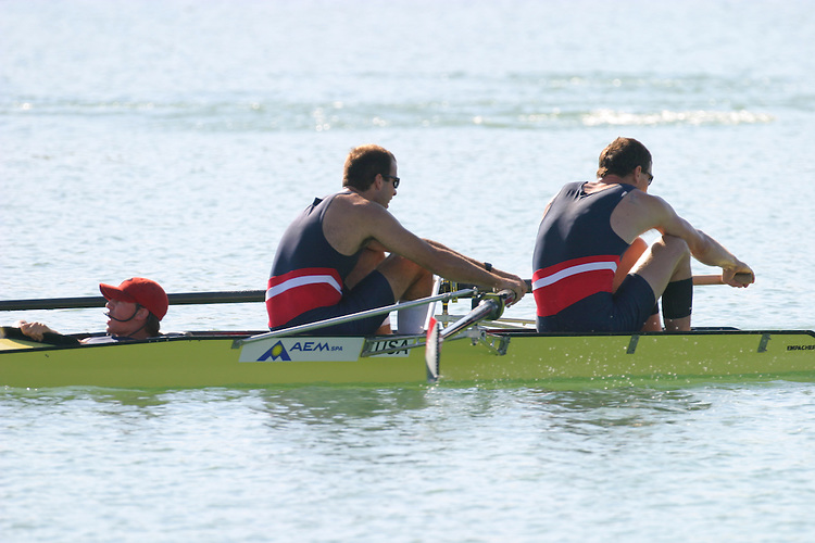 US Mens Coxed Pair, M2+, FISA 2003 World Rowing Championships, Milan, Italy Crew from bow: Andy Kelly (cox), Matt Rich, Daniel Beery, Gold, First Place, 7:10.11