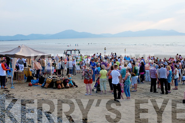 CELEBRATION OF LIGHT: The very large crowd at the Celebration of Light candle ceremony at Banna Strand on Sunday.