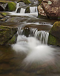A small waterfall along Atherton Brook in the Quabbin watershed in Shutesbury, Massachusetts.