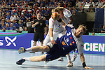 20.01.2013 Barcelona, Spain. IHF men's world championship, eighth.final. Picture show Kari Kristjan Kristjansson   in action during game between Island  vs France at Palau st Jordi