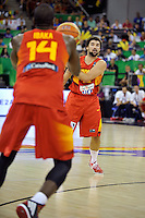 Spain's  LLULL, Sergio during  and IBAKA, Serge 2014 FIBA Basketball World Cup Group Phase-Group A, match Serbia vs Spain. Palacio  Deportes of Granada. September 4,2014. (ALTERPHOTOS/Raul Perez)