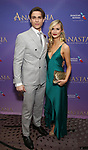 Derek Klena and Elycia Scriven attend Broadway Opening Night After Party for 'Anastasia' at the Mariott Marquis Hotel on April 24, 2017 in New York City.