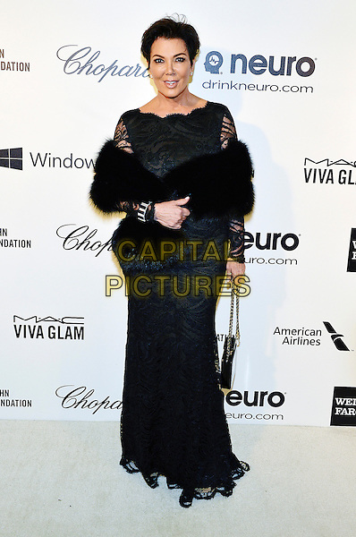 02 March 2014 - West Hollywood, California - Kris Jenner. 22nd Annual Elton John Academy Awards Viewing Party held at West Hollywood Park.  <br /> CAP/ADM/CC<br /> &copy;ChewAdMedia/Capital Pictures