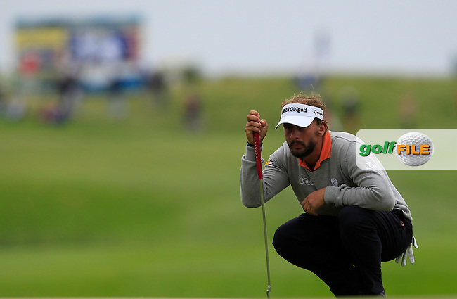 Joost Luiten (NED) on the 9th green during Round 4 of the 100th Open de France, played at Le Golf National, Guyancourt, Paris, France. 03/07/2016. <br /> Picture: Thos Caffrey | Golffile<br /> <br /> All photos usage must carry mandatory copyright credit   (&copy; Golffile | Thos Caffrey)