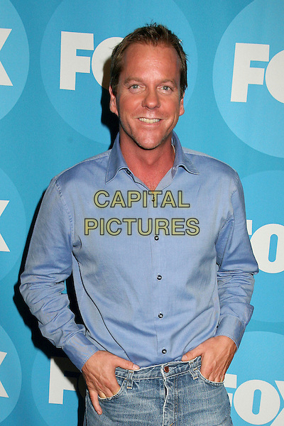 KIEFER SUTHERLAND.2006 FOX TCA Summer Party, Pasadena, California, USA. .July 25th, 2006.Photo: Byron Purvis/AdMedia/Capital Pictures.Ref: ADM/BP.half length blue shirt Keifer.www.capitalpictures.com.sales@capitalpictures.com.©AdMedia/Capital Pictures.
