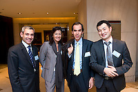 L-R: Pierre-Yves POIRIER, Partner, Edmond de Rothschild Investment Partners, Paris Europlace Communications Director Carole d'Armaille, Edmond de Rothschild Financial Company Senior Vice President Humbert Garreau de Labarre, Edmond de Rothschild Financial Company Li Cheng, at Shanghai / Paris Europlace Financial Forum, in Shanghai, China, on December 1, 2010. Photo by Lucas Schifres/Pictobank