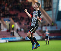 Pars' Shaun Byrne celebrates after he scores their second goal.