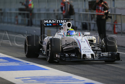 25.02.2016. Circuit de Catalunya, Barcelona, Spain. Day 4 of the Spring F1 testing and new car unvieling for 2016-17 season.  Williams Martini Racing, Williams Mercedes FW38 – Felipe Massa.