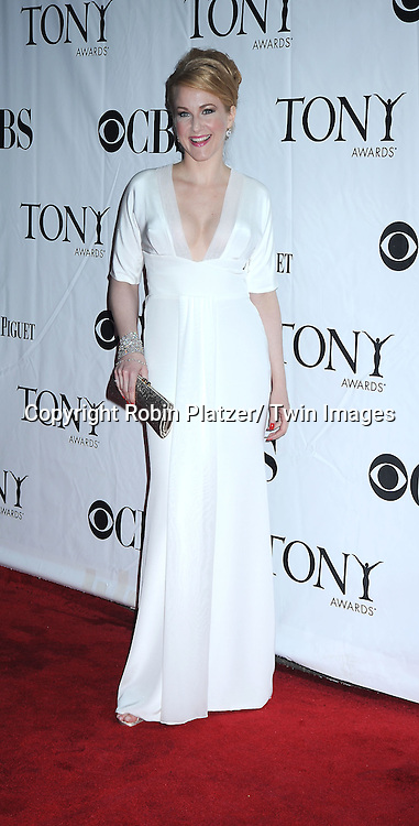 Kate Finneran  arriving at The 61st Annual Tony Awards on June 13, 2010 at Radio City Music Hall in New York City.