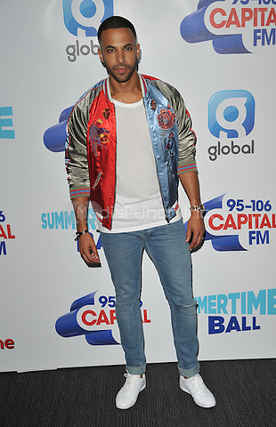 Marvin Humes at the Capital FM Summertime Ball in aid of the Help a London Child charity, Wembley Stadium, Wembley, London, England, UK, on Saturday 11 June 2016.<br /> CAP/CAN<br /> &copy;CAN/Capital Pictures /MediaPunch ***NORTH AND SOUTH AMERIcAS ONLY***