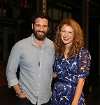 Colin Donnell visits Melissa Benoit backstage after her Opening Night debut in 'Beautiful-The Carole King Musical' at the Stephen Sondheim on June 12, 2018 in New York City.