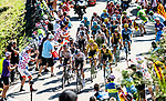 The peloton climbs the Portillon during Stage 15 of the 2018 Tour de France running 218km from Carcassonne to Bagneres-de-Luchon, France. 24th July 2018. <br /> Picture: ASO/Alex Broadway | Cyclefile<br /> All photos usage must carry mandatory copyright credit (© Cyclefile | ASO/Alex Broadway)