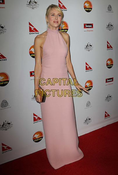 Naomi Watts.G'Day USA Black Tie Gala at JW Marriott, Los Angeles, California, USA..January 12th, 2013.full length clutch bag pink high neck dress sleeveless maxi.CAP/ADM/KB.©Kevan Brooks/AdMedia/Capital Pictures.