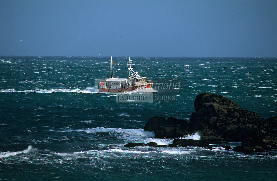 Europe/France/Bretagne/29/Finistère/Ile d'Ouessant: Bateau de pêche