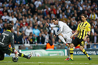 30.04.2012 SPAIN -  Champions League 12/13 Matchday 12th  match played between Real Madrid CF vs  Ballspiel-Verein Borussia 09 Dortmund at Santiago Bernabeu stadium. The picture show Gonzalo Higuain (Argentine/French Forward of Real Madrid)