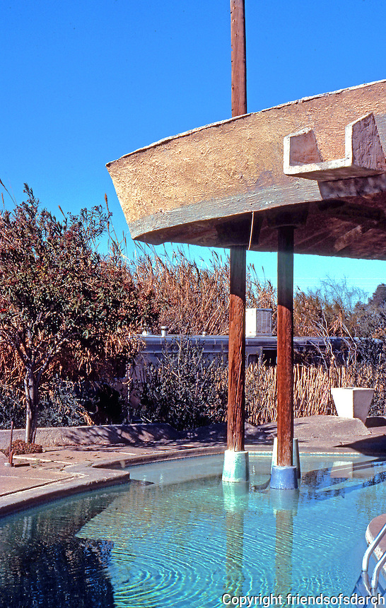 Paolo Soleri: Cosanti Foundation--pool, roofed. Photo '77.