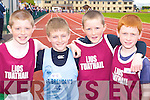 Brian O?'Seancha?in Listowel, Shane Lowth St Brendan's, Jason Foley and Joey Lynch Listowel who competed at the Juvenile Athletic Championships in Castleisland on Sunday   .     Copyright Kerry's Eye 2008