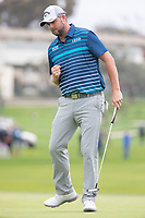 26th January 2020, Torrey Pines, La Jolla, San Diego, CA USA;  Marc Leishman reacts to making a birdie on the 15th hole during the final round of the Farmers Insurance Open at Torrey Pines Golf Club on January 26, 2020 in La Jolla, California.