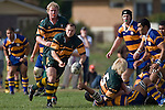 Kevin Farrell passes from a ruck during the CMRFU Counties Power Premier Club Rugby game between Patumahoe & Pukekohe played at Patumahoe on April 12th, 2008..The halftime score was 10 all with Pukekohe going on to win 23 - 18.