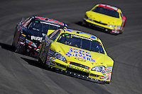 Oct. 10, 2009; Fontana, CA, USA; NASCAR Nationwide Series driver Tony Raines during the Copart 300 at Auto Club Speedway. Mandatory Credit: Mark J. Rebilas-