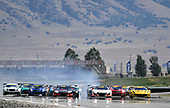 Pirelli World Challenge<br /> Grand Prix of Utah<br /> Utah Motorsports Campus, Tooele, UT USA<br /> Sunday 13 August 2017<br /> Daniel Mancinelli/Niccol&ograve; Schiro, Ryan Eversley/ Tom Dyer, Peter Kox/ Mark Wilkins<br /> World Copyright: Richard Dole/LAT Images