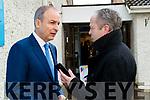 Michael Martin talking to Kerry's Eye Chief reporter Aidan O'Connor