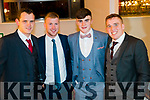 David Hallisey, Kevin O'Sullivan, Seanie Shea and Kieran Fitzgibbon at the Kenmare GAA Social  at the Brookline Hotel on Friday night.