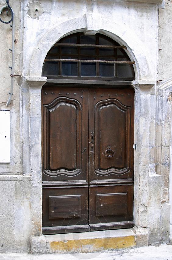 Door. St Jean de Fos village. Languedoc. A door. France. Europe.
