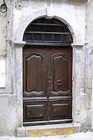 Door. St Jean de Fos village. Languedoc. A door. France. Europe.
