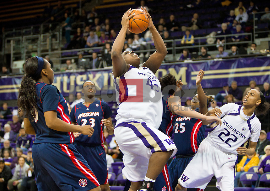 Regina Rogers..---Washington Huskies women's basketball against the Arizona Wildcats at Alaska Airlines Arena at Hec Edmundson Pavilion in Seattle on Thursday, January 26, 2012. (Photo by Dan DeLong/Red Box Pictures)