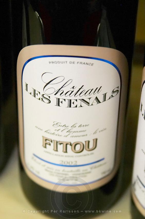 Chateau Les Fenals Fitou. Languedoc. France. Europe. Bottle.