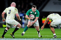 Cian Healy of Ireland in possession. RBS Six Nations match between England and Ireland on February 27, 2016 at Twickenham Stadium in London, England. Photo by: Patrick Khachfe / Onside Images