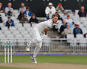 7th September 2017, Emirates Old Trafford, Manchester, England; Specsavers County Championship, Division One; Lancashire versus Essex; Jamie Porter of Essex bowls during his opening spell today
