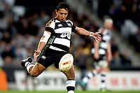 Lincoln McClutchie of Hawkes Bay in action during the 2018 Mitre 10 Cup Championship rugby semifinal between Canterbury and Counties Manukau at Forsyth Barr Stadium in Dunedin, New Zealand on Saturday, 20 October 2018. Photo: Joe Allison / lintottphoto.co.nz