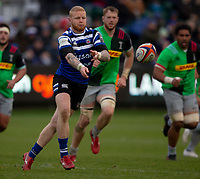 Bath Rugby's Tom Homer in action during todays match<br /> <br /> Photographer Bob Bradford/CameraSport<br /> <br /> Premiership Rugby Cup Round 1 - Bath Rugby v Harlequins - Saturday 27th October 2018 - The Recreation Ground - Bath<br /> <br /> World Copyright © 2018 CameraSport. All rights reserved. 43 Linden Ave. Countesthorpe. Leicester. England. LE8 5PG - Tel: +44 (0) 116 277 4147 - admin@camerasport.com - www.camerasport.com