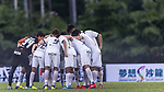 Dreams FC players form a huddle during the Dreams FC vs Wofoo Tai Po match of the week one Premier League match at the Aberdeen Sports Ground on 26 August 2017 in Hong Kong, China. Photo by Yu Chun Christopher Wong / Power Sport Images