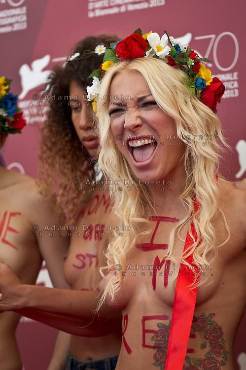 Femen activist Sasha Shevchenko attends 'Ukraine Is Not A Brothel' Photocall during the 70th Venice International Film Festival at Palazzo del Casino on September 4, 2013 . (Photo by Adamo Di Loreto/BuenaVista*photo)