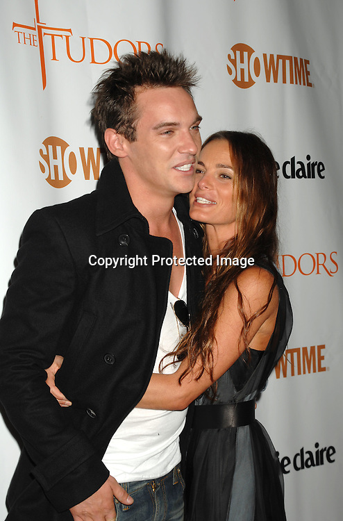 """Jonathan Rhys Meyers and Gabrielle Anwar..at The Showtime and Marie Claire New York Premiere of """"The Tudors"""" at The Hearst Tower. The Show premieres on Showtime on April 1, 2007...Robin Platzer, Twin Images"""