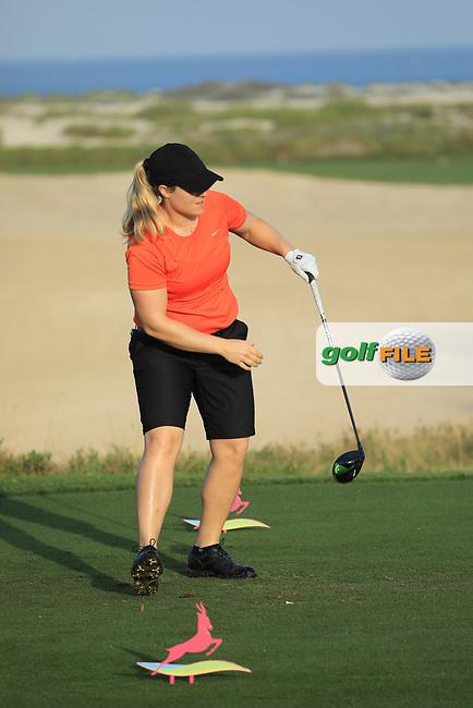 Caroline Headwall (WAL) during the first round of the Fatima Bint Mubarak Ladies Open played at Saadiyat Beach Golf Club, Abu Dhabi, UAE. 10/01/2019<br /> Picture: Golffile | Phil Inglis<br /> <br /> All photo usage must carry mandatory copyright credit (© Golffile | Phil Inglis)