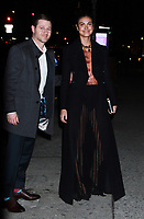 NEW YORK, NY - March 07: Benjamin McKenzie, Morena Baccarin, arriving to Bravo's premiere of  Project Runway at Vandal in New York City on March 07, 2019. <br /> CAP/MPI/RW<br /> &copy;RW/MPI/Capital Pictures