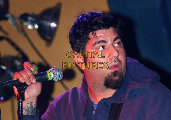 CHINO MORENO (of THE DEFTONES fame) performs with TEAM SLEEP.Performs  during a tour stop of their much anticipated first full American tour held at Mr. Smalls Theatre, Pittsburgh, PA, USA,.July 6, 2005..portrait headshot concert gig beard.Ref: ADM.www.capitalpictures.com.sales@capitalpictures.com.©Jason Nelson/AdMedia/Capital Picture