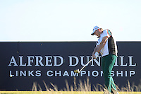 Marcus Fraser (AUS) on the 16th tee during Round 1 of the 2015 Alfred Dunhill Links Championship at Kingsbarns in Scotland on 1/10/15.<br /> Picture: Thos Caffrey | Golffile