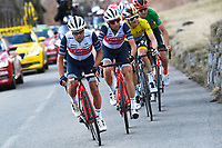 14th March 2020, Paris to Nice cycling tour, final day, stage 7;  PORTE Richie (AUS) of TREK - SEGAFREDO and NIBALI Vincenzo (ITA) of TREK - SEGAFREDO in action during stage 7 of the 78th edition of the Paris - Nice cycling race, a stage of 166,5km with start in Nice and finish in Valdeblore La Colmiane on March 14, 2020 in Valdeblore La Colmiane, France
