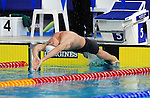 Wales&rsquo; Marco Loughran wins the men&rsquo;s 50m backstroke semi-final<br /> <br /> Photographer Chris Vaughan/Sportingwales<br /> <br /> 20th Commonwealth Games - Day 3 - Saturday 26th July 2014 - Swimming - Tollcross International Swimming Centre - Glasgow - UK