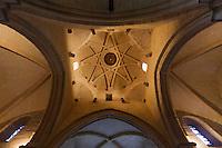 Europe/France/Aquitaine/64/Pyrénées-Atlantiques/Pays-Basque/Hôpital-Saint-Blaise: Église de L'Hôpital-Saint-Blaise- La coupole en forme d'étoile témoigne de l'influenece espagnole
