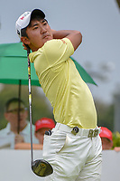 Takumi KANAYA (JPN) watches his tee shot on 12 during Rd 4 of the Asia-Pacific Amateur Championship, Sentosa Golf Club, Singapore. 10/7/2018.<br /> Picture: Golffile | Ken Murray<br /> <br /> <br /> All photo usage must carry mandatory copyright credit (© Golffile | Ken Murray)