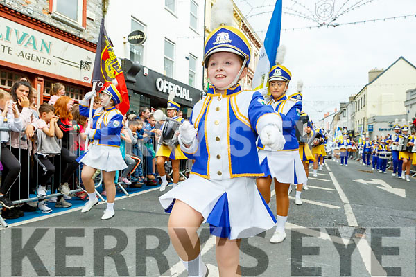 Little Ann Mason taking part in the Rose parade on Sunday..